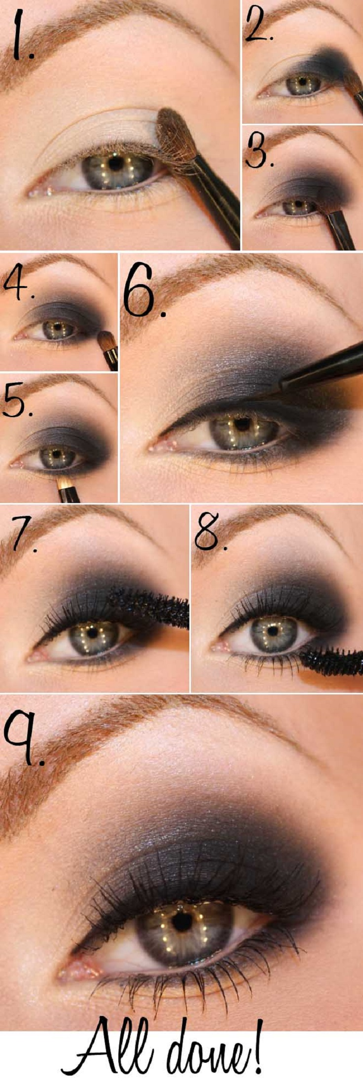 Smokey Eyeshadow Tutorial: Top 10 Gorgeous Night Eye Makeup Tutorials