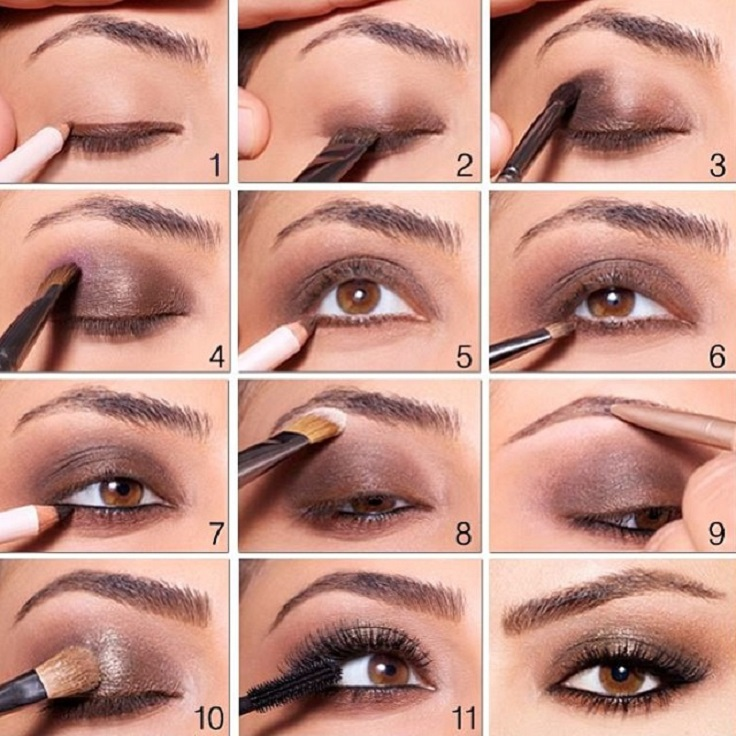 brown-smokey-eye-makeup-with-sparkly-touch