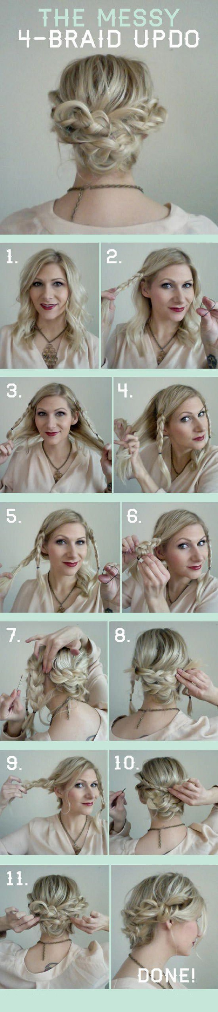 Top 10 Messy Braided Hairstyle Tutorials to Be Stylish ...