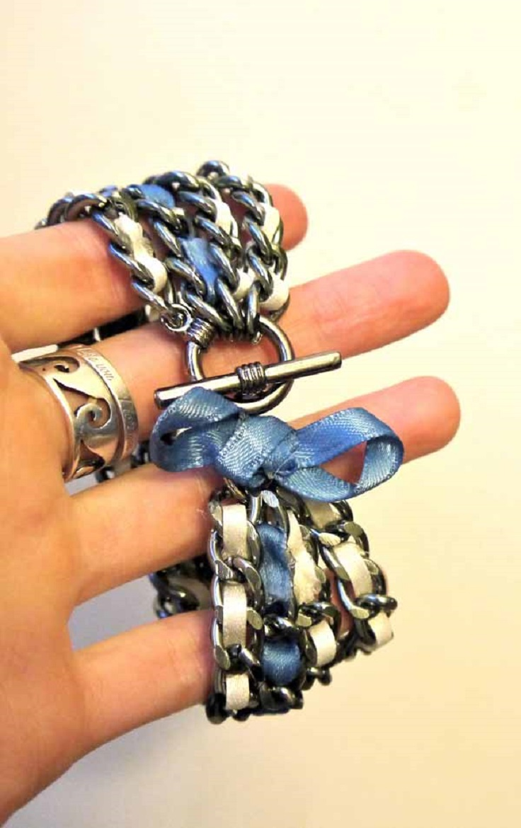 how to make chain bracelets at home