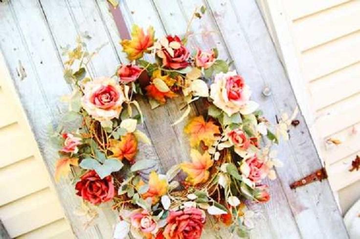 Beautiful-Handmade-Fall-Wreath-with-Roses