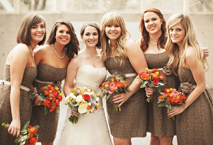 Brown Lace Above The Knee And Long Dresses1