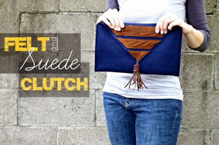 Felt-And-Suede-Clutch