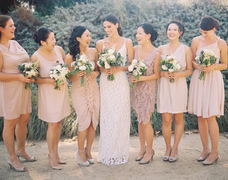 Mismatched-Champagne-Bridesmaid-Dresses1