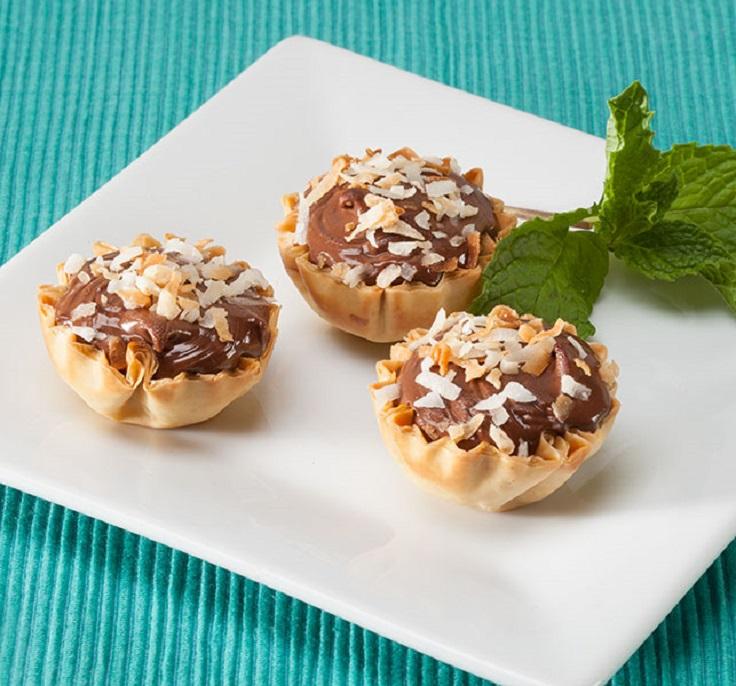 Nutella-Coconut-Tarts