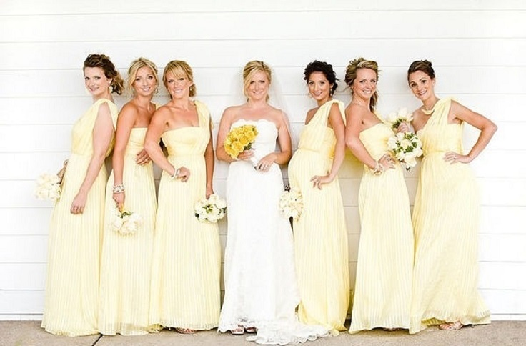 Pale Yellow Bridesmaid Dresses - Flower Girl Dresses