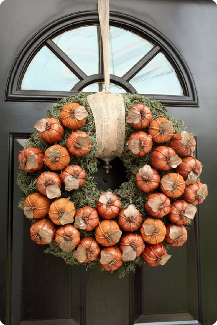Pumpkin-Wreath