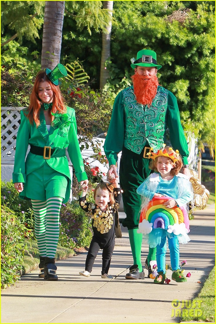 alyson-hannigan-family-leprechaun-halloween-costume