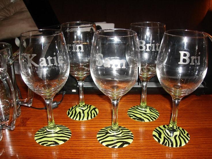 animal-print-and-names-wine-glass