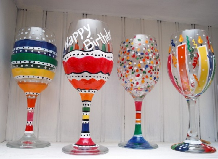 Top 10 diy decorations for your wine glass top inspired for How to make painted wine glasses