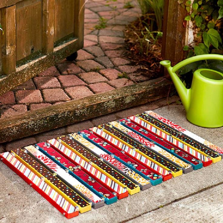 colorful-wooden-doormat