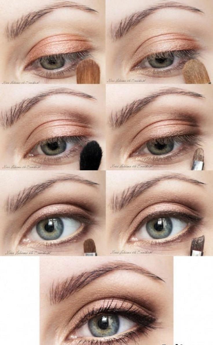 Красивый повседневный макияж для зеленых глаз поэтапно фото