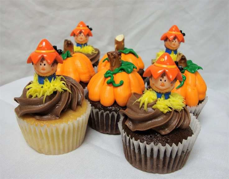 Top 10 diy cupcake fall decorations top inspired for Decorations for thanksgiving cupcakes