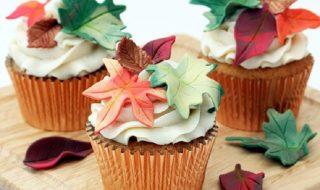 leaf cupcake