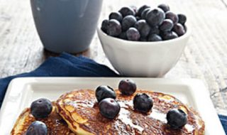 sour creme blueberry pancake