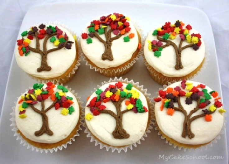 Lovely Fall Cupcake Decorations Part - 2: Top 10 DIY Cupcake Fall Decorations