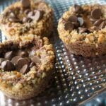 Brownie Cups with Pretzel Crumble, Caramel and Milk Chocolate