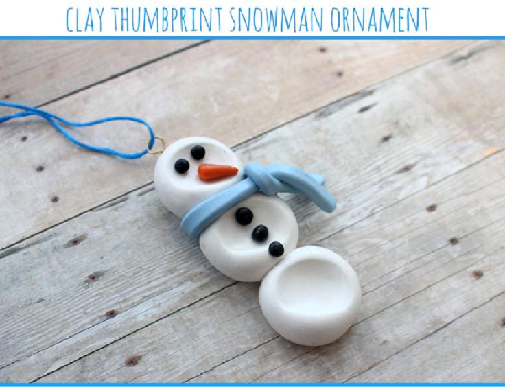 Clay-Thumbprint-Snowman-Ornament