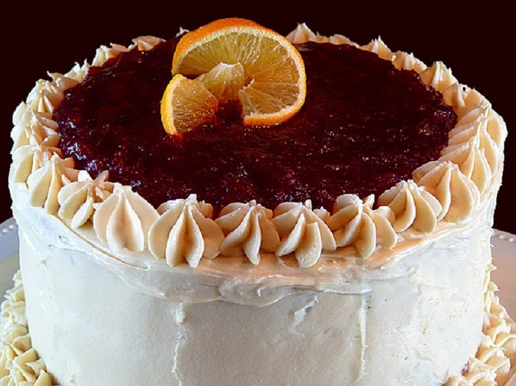 Cranberry Glazed Orange Layer Cake