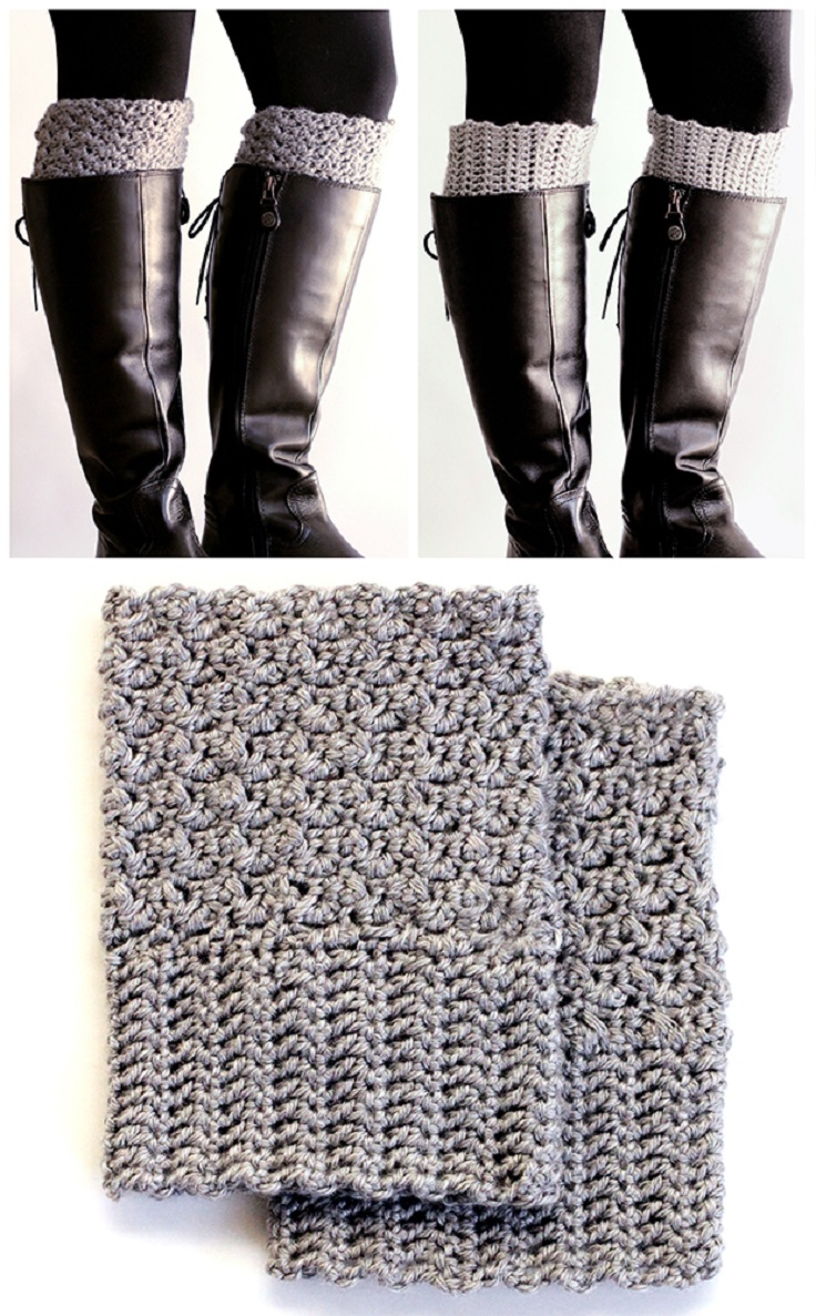 Crochet Boot Cuff Easy Pattern : Top 10 Beautiful and Warm Free Boot Cuff Crochet Patterns ...
