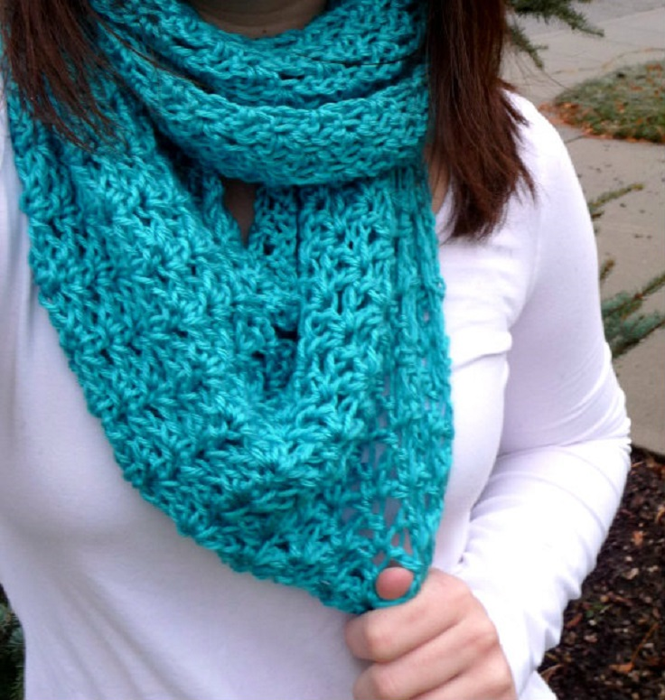 Top 10 Beautiful Free Crochet Scarf Patterns - Top Inspired