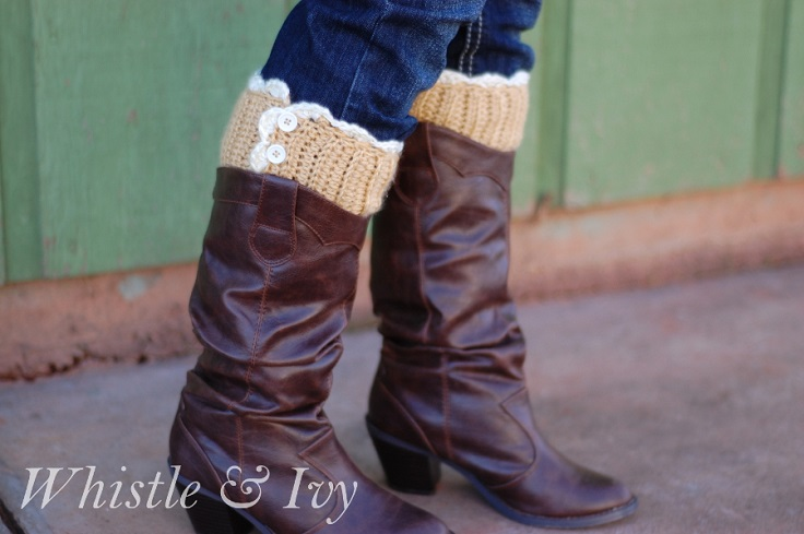 Lacy-Button-Boot-Cuffs