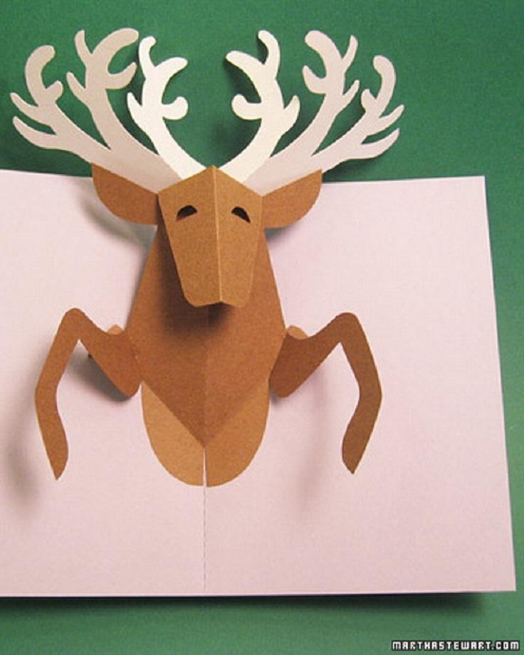 Reindeer-Pop-Up-Postcard