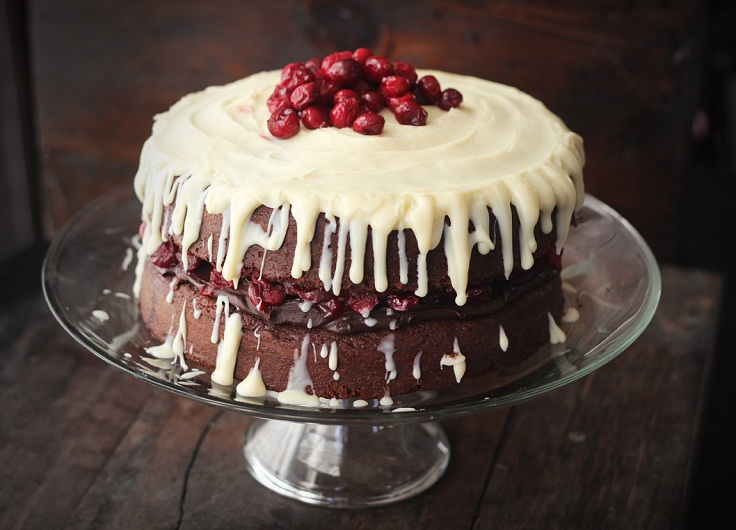 TRIPLE-CHOCOLATE-LAYER-CAKE-WITH-MAPLE-ROASTED-CRANBERRIES