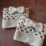 Crochet Bow Cuff Pattern1
