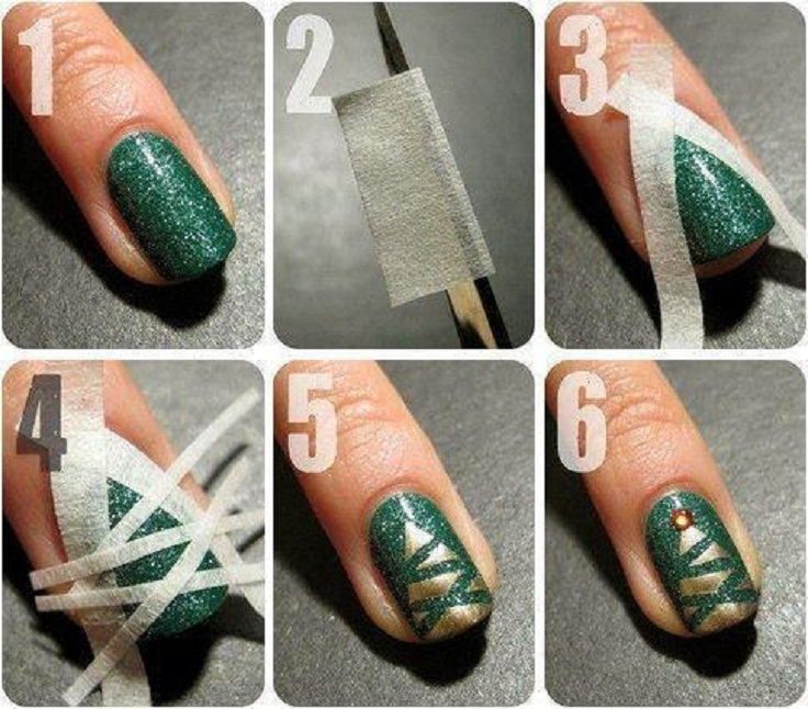 Grab-some-tape-and-nail-polish-for-a-Christmas-manicure