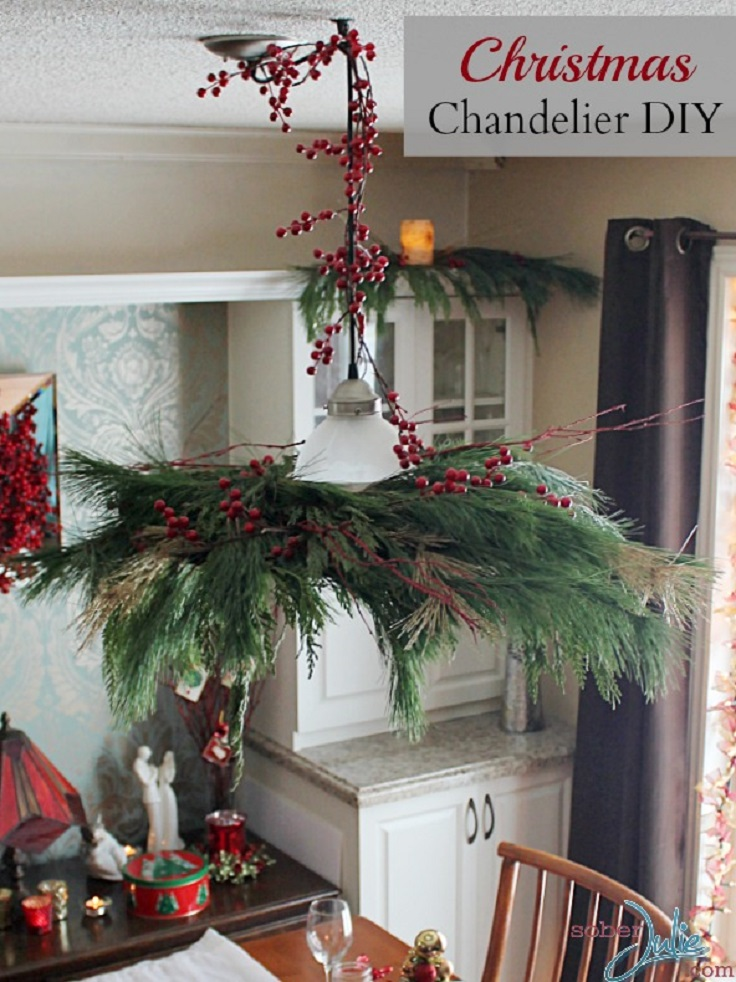 top 10 diy christmas chandelier decorations - How To Decorate A Chandelier For Christmas