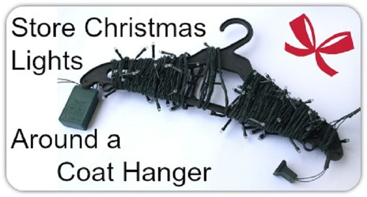 Store-Christmas-lights-around-a-coat-hanger