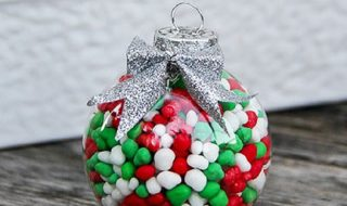 candy filled ornament