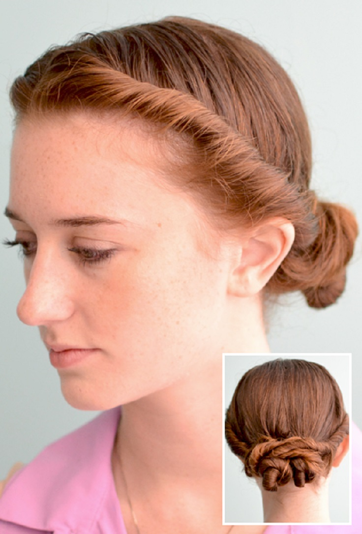 French hairstyle images step by step