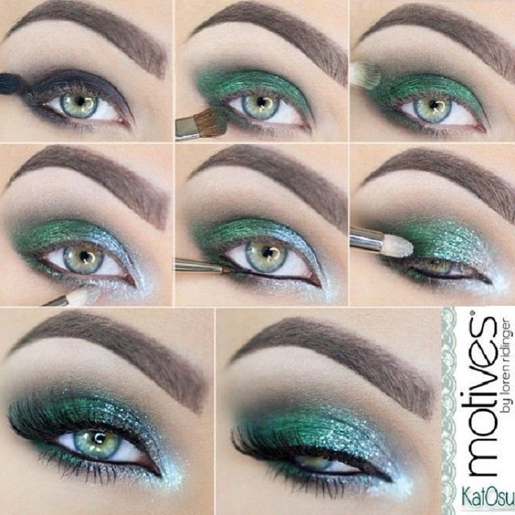 Макияж на вечер для зеленых глаз
