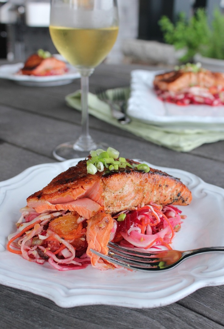 ginger-soy-glazed-salmon-with-asian-beet-slaw