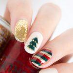 gold-red-green-christmas-nail-art