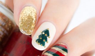 gold-red-green-christmas-nail-art