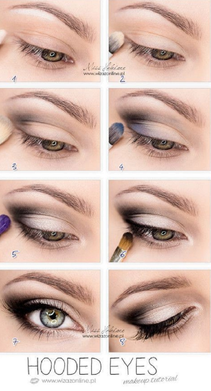 Top 10 Simple Makeup Tutorials For Hooded Eyes Top Inspired