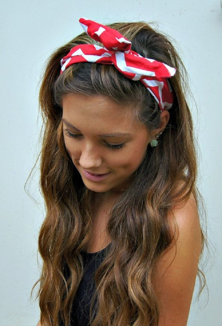 bandana hairstyles top 10 simple ways tutorials top inspired. Black Bedroom Furniture Sets. Home Design Ideas