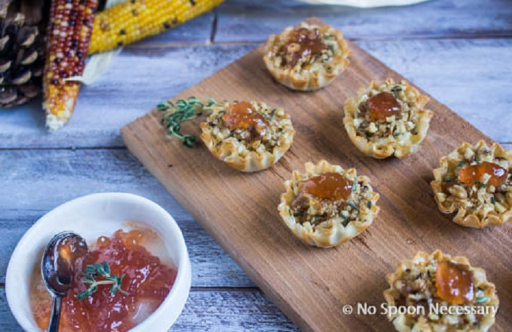 Filo-Cups-goat-cheese-honey-walnuts
