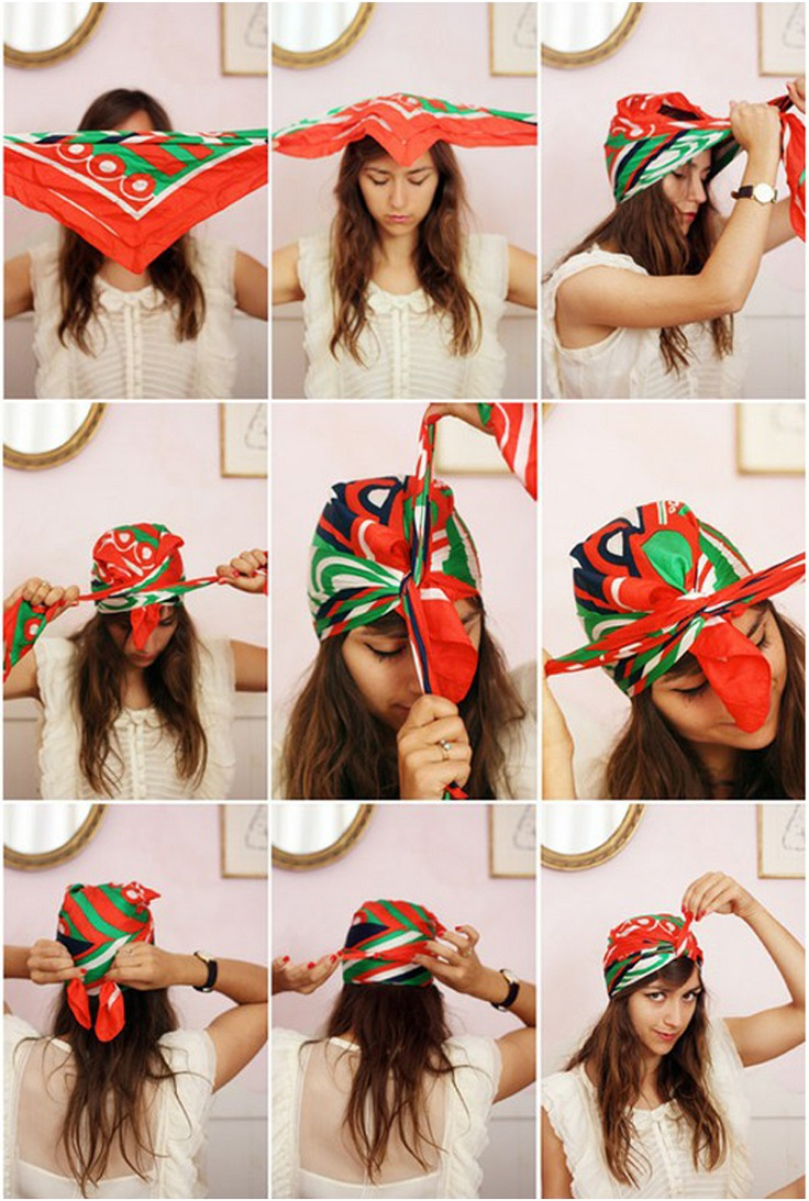 Swell Top 10 Simple Ways To Style Your Bandana Top Inspired Hairstyles For Women Draintrainus