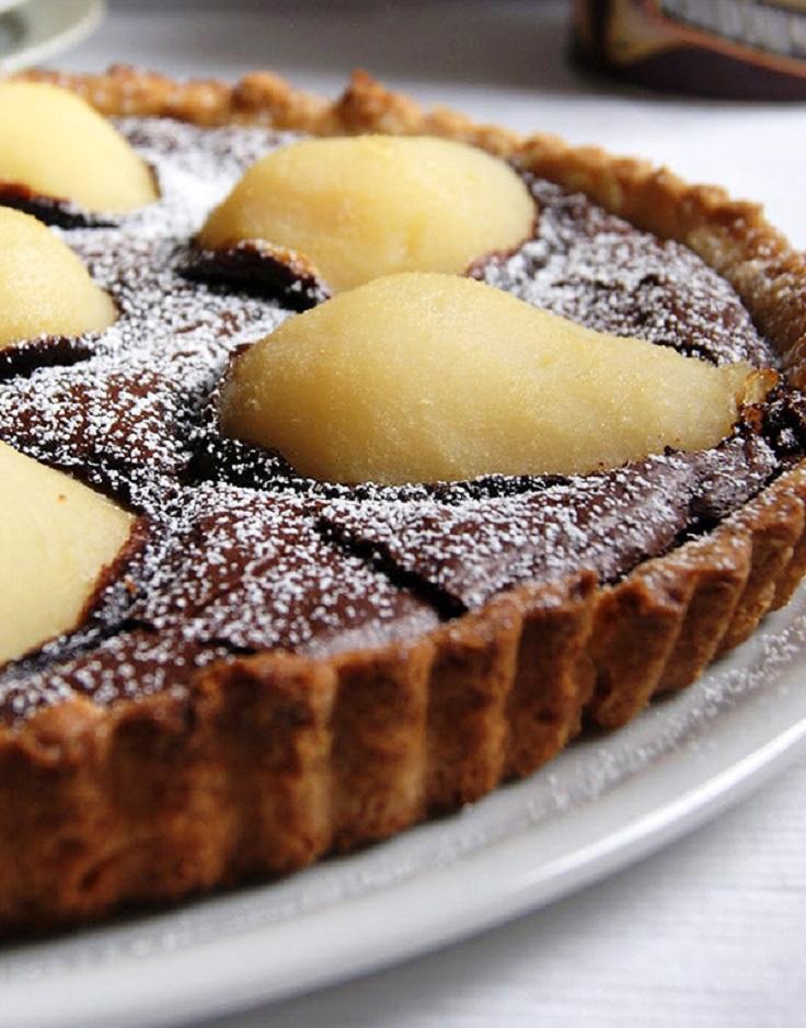 Pears Chocolate Cake