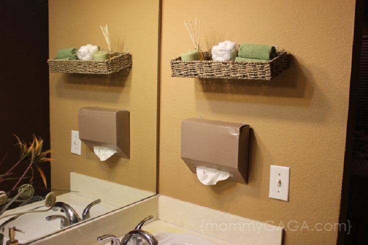 Top Lovely DIY Bathroom Decor And Storage Ideas Top Inspired - Bathroom towel basket ideas for small bathroom ideas