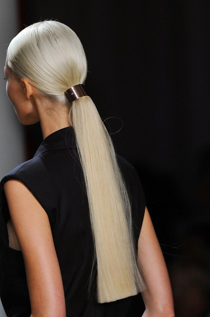 Прически с ровных волос