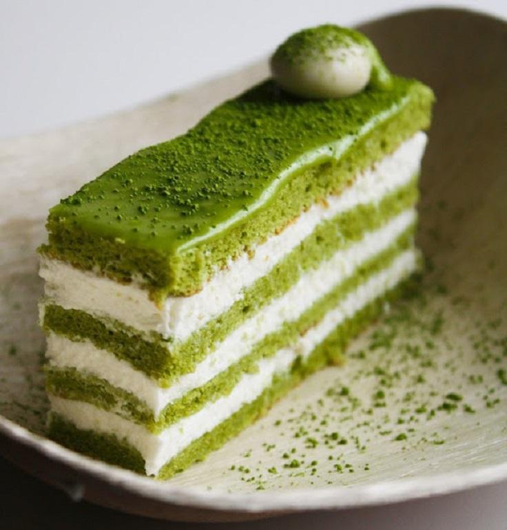 matcha-almond-genoise-layer-cake