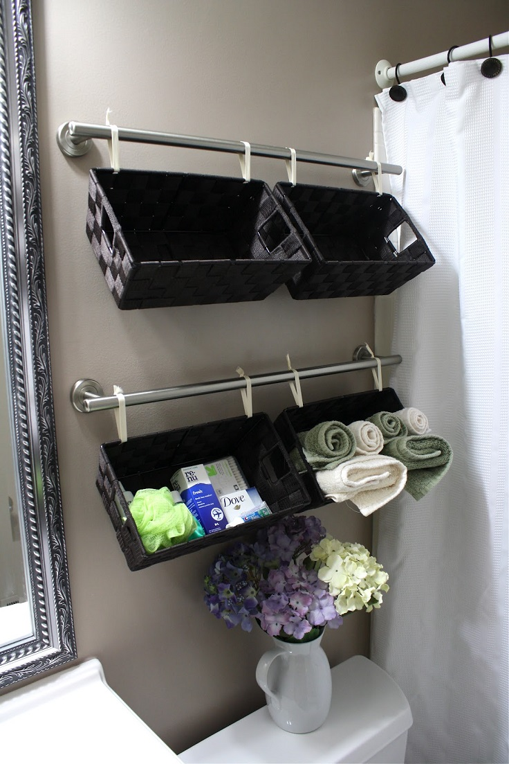 Top 10 lovely diy bathroom decor and storage ideas top for Bathroom hanging decorations