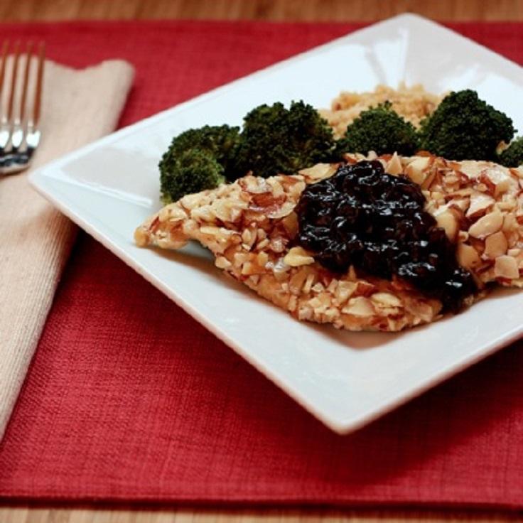 Almond-Chicken-with-Cherry-Balsamic-Sauce