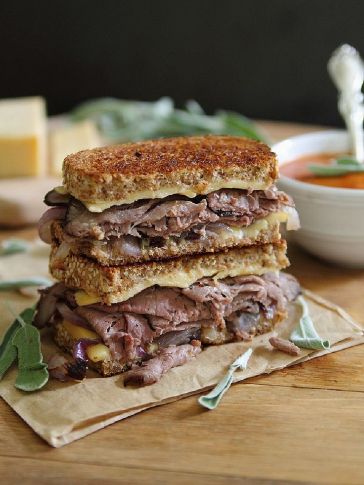 Roast-Beef-and-Smoked-Gouda-Grilled-Cheese