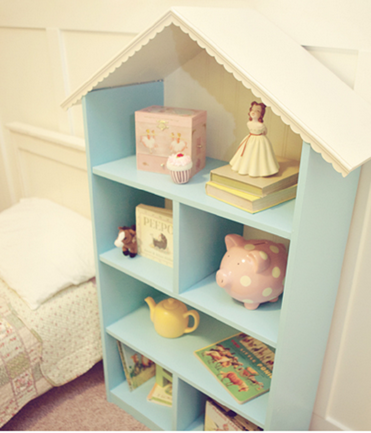 Top 10 diy decorating ideas for kids room top inspired - Adorable dollhouse bookshelves kids to decorate the room ...